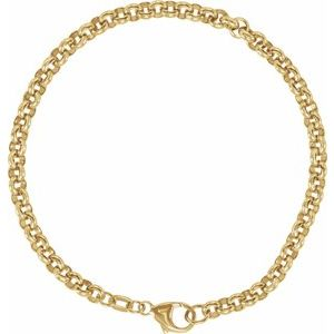 "14K Yellow Solid Rolo 7"" Bracelet"