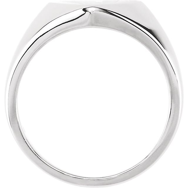 Sterling Silver 11x10 mm Heart Signet Ring