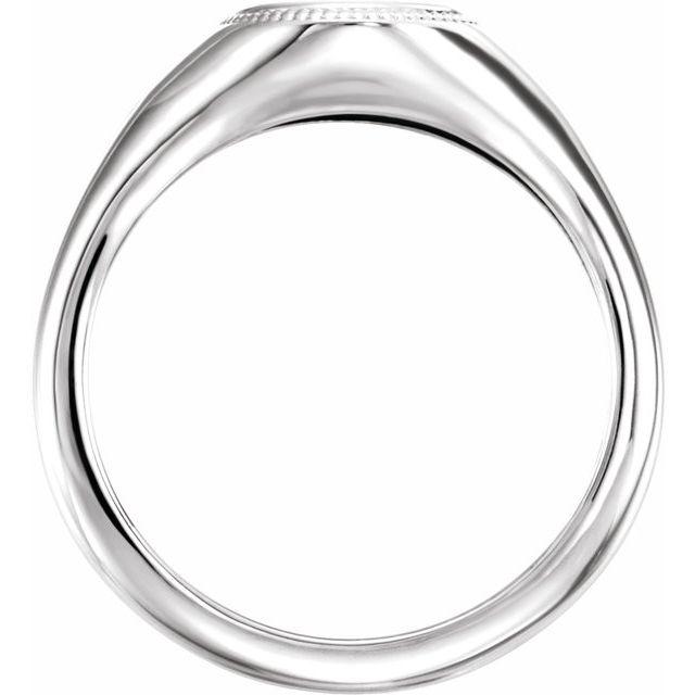 14K White Cross Ring