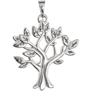 14K White My Tree™ Family Pendant