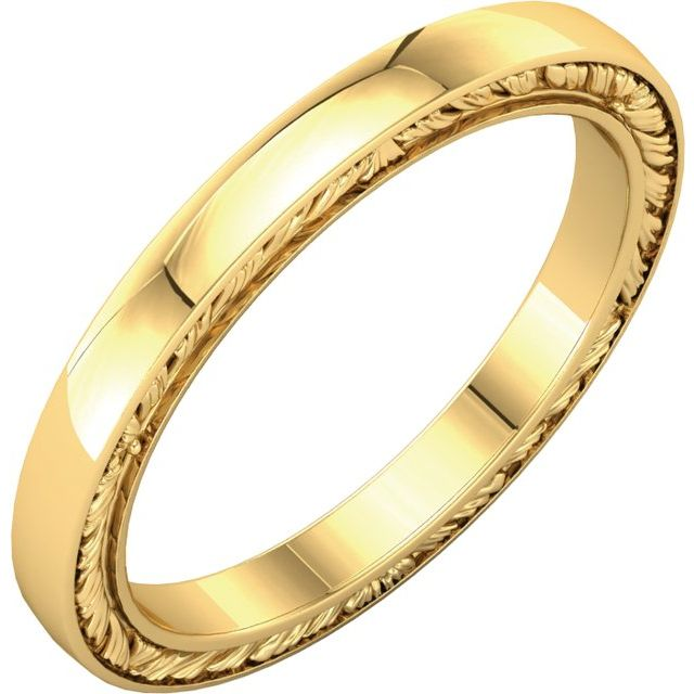 14K Yellow Band Size 6.5