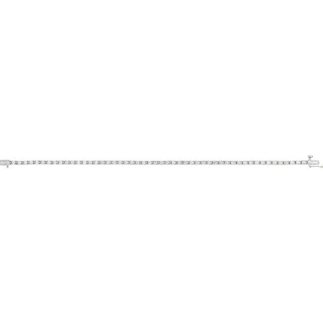 14K White 2 1/8 CTW Diamond Line 7