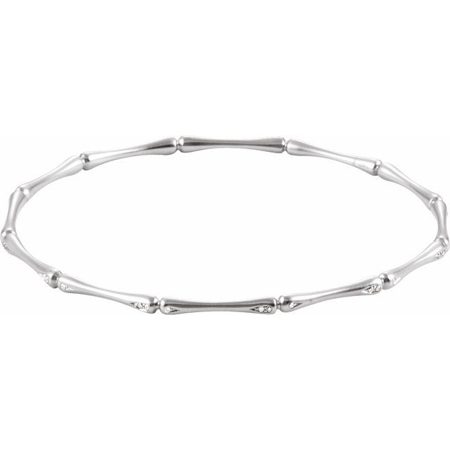 "14K White 1/6 CTW Diamond 7"" Bracelet"