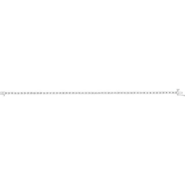 14K White 2 1/4 CTW Diamond Line 7 1/4