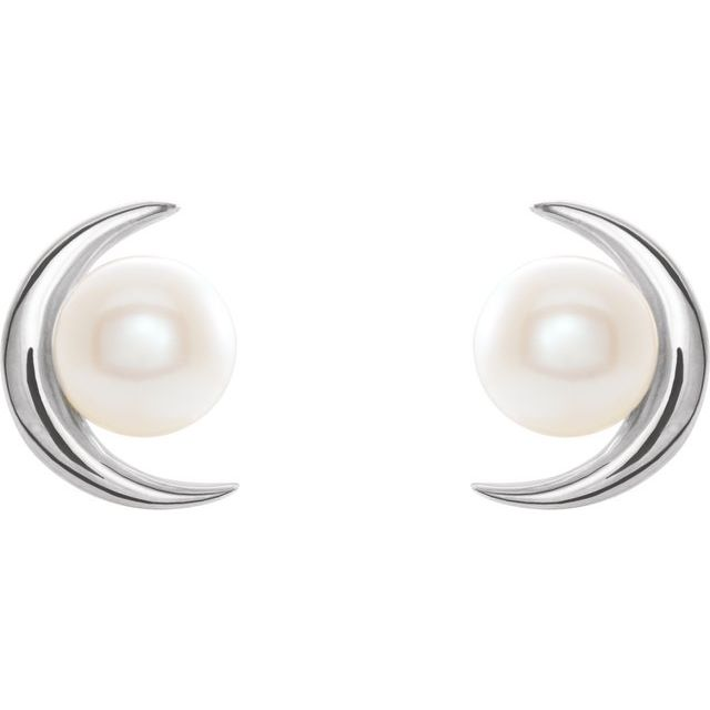 Sterling Silver Freshwater Cultured Pearl Earrings