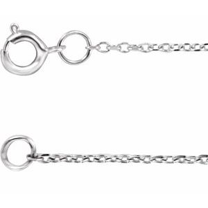 "Rhodium-Plated Sterling Silver 1 mm Adjustable Diamond-Cut Cable Chain 6 1/2-7 1/2"" Bracelet"