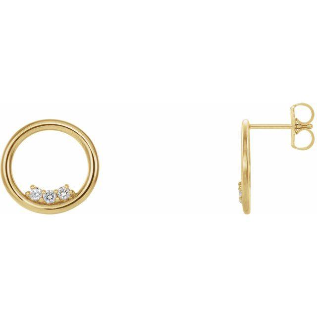 14K Yellow 1/6 CTW Diamond Circle Earrings