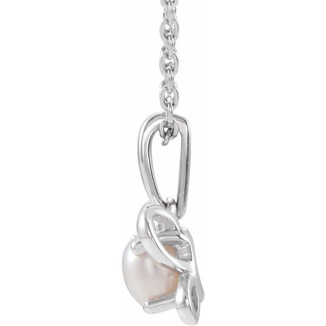 14K White June Youth Butterfly Birthstone 15