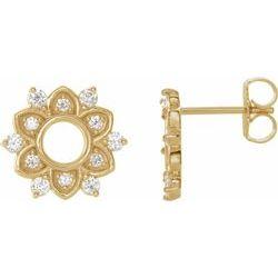 Accented Starburst Earrings