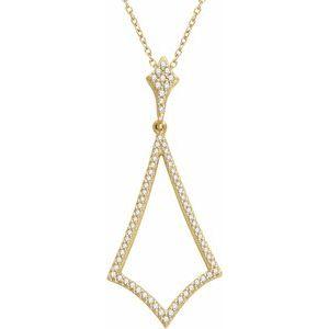 """14K Yellow 1/4 CTW Diamond 18"""" Necklace"""