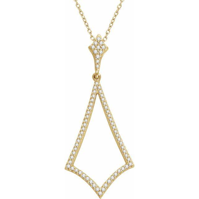 14K Yellow 1/4 CTW Diamond 18