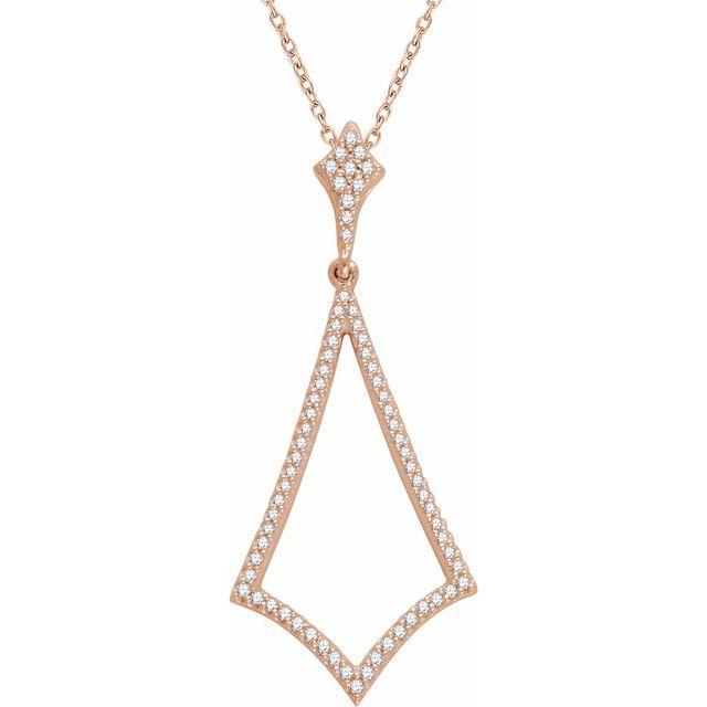 14K Rose 1/4 CTW Diamond 18