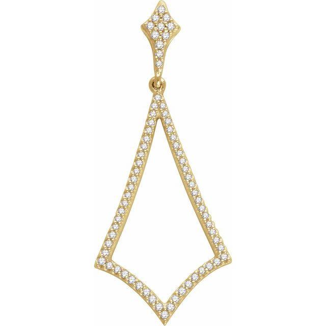 14K Yellow 1/4 CTW Natural Diamond Pendant