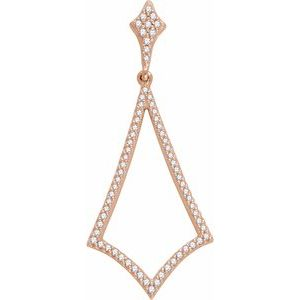 14K Rose 1/4 CTW Diamond Pendant