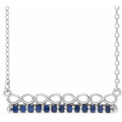 Infinity-Inspired Bar Necklace or Center