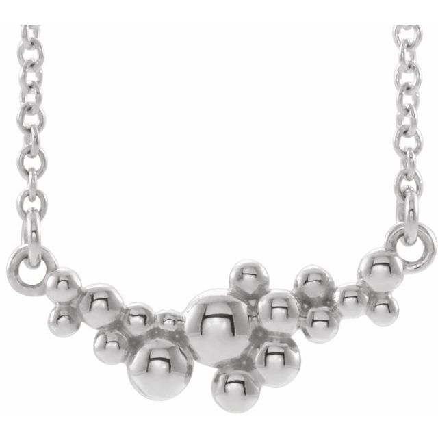 Sterling Silver Scattered Bead 18