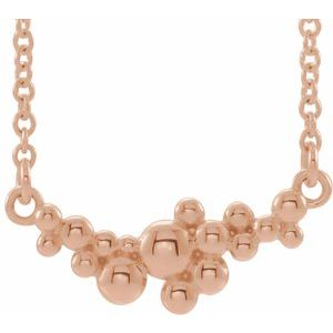 "14K Rose Scattered Bead 18"" Necklace"