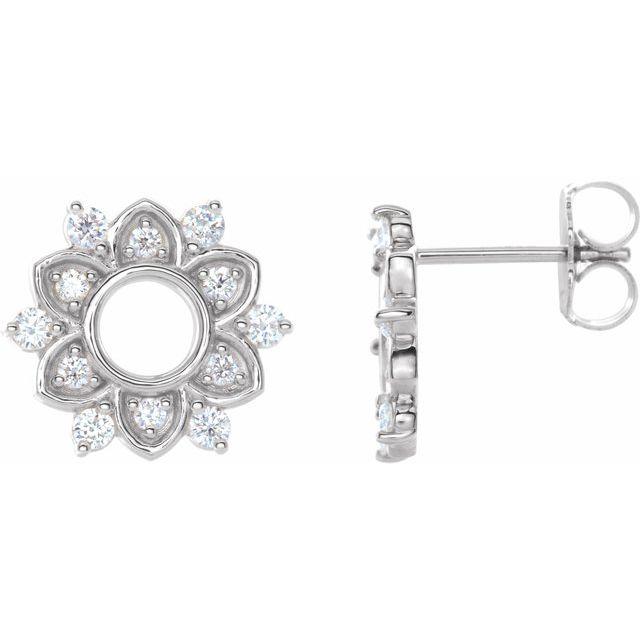 14K White 1/3 CTW Natural Diamond Earrings