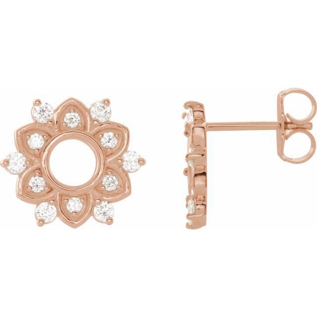 14K Rose 1/3 CTW Natural Diamond Earrings