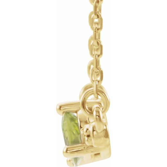 14K Yellow Peridot & 1/10 CTW Diamond 16