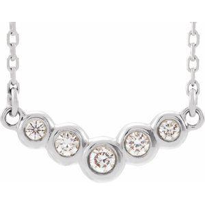 "14K White  1/8 CTW Diamond 18"" Necklace"