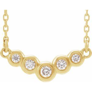 "14K Yellow  1/8 CTW Diamond 16"" Necklace"