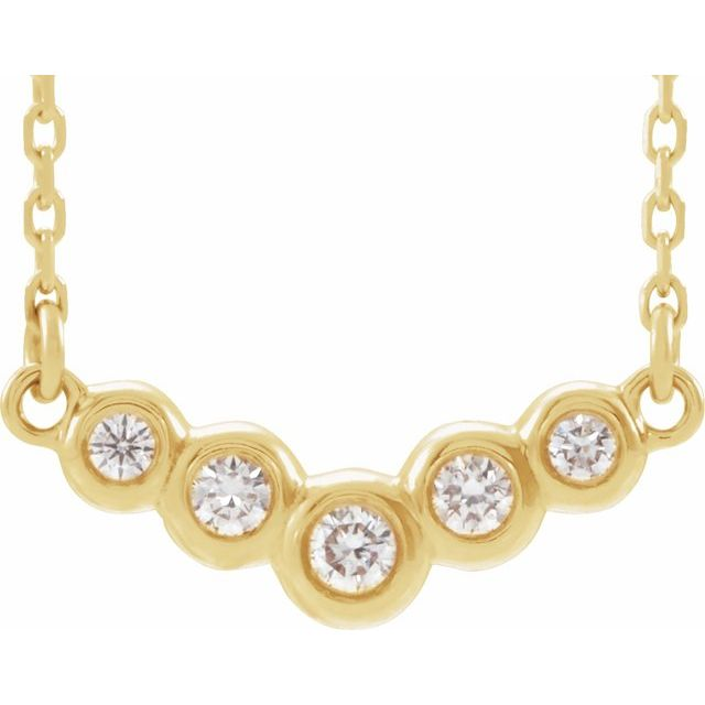 14K Yellow  1/8 CTW Diamond 18