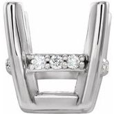 Cushion 4-Prong Accented Earring Setting