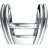 Oval 4-Prong Double-Claw Basket Setting