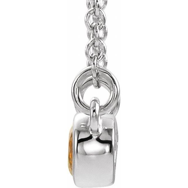 14K White Citrine & .02 CTW Diamond 18