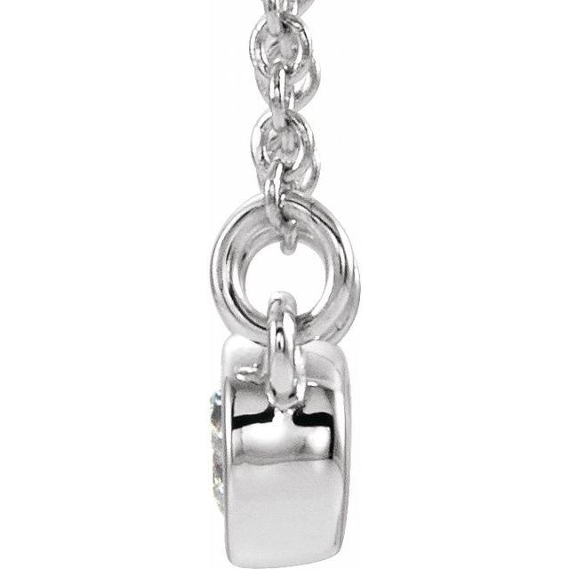 14K White 1/8 CTW Diamond 16