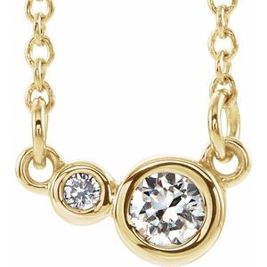"14K Yellow 1/8 CTW Diamond 18"" Necklace"