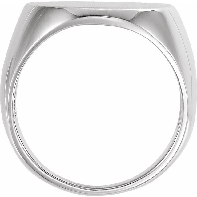 Sterling Silver 27x19 mm Oval Signet Ring