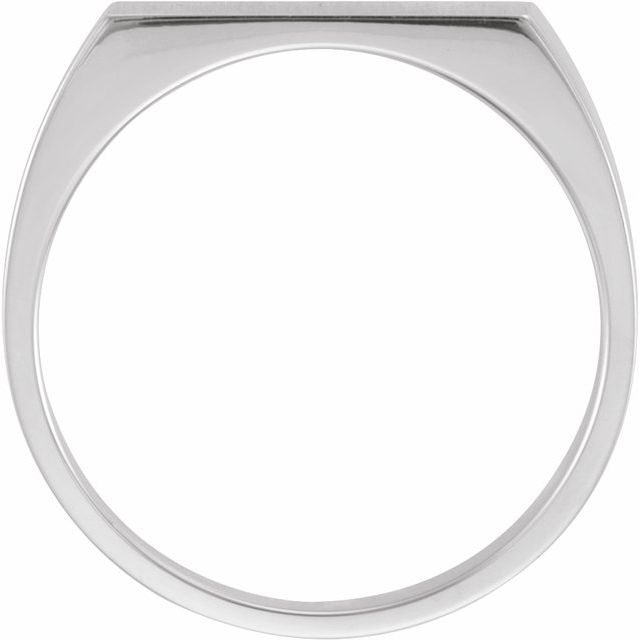 Sterling Silver 15x6 mm Rectangle Signet Ring
