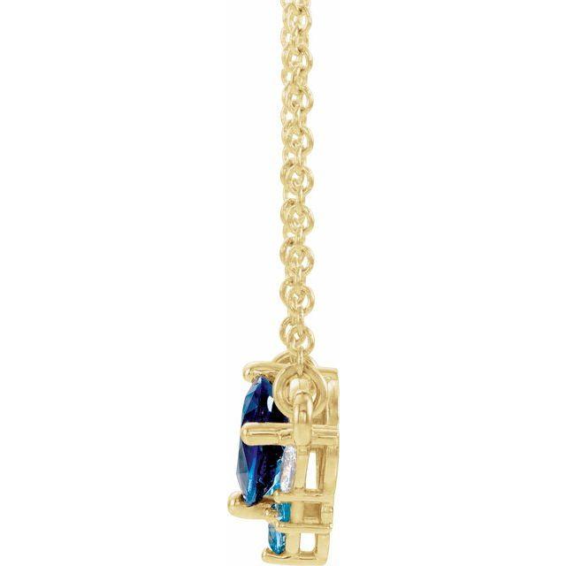 14K Yellow Multi-Gemstone & .06 CTW Diamond 18