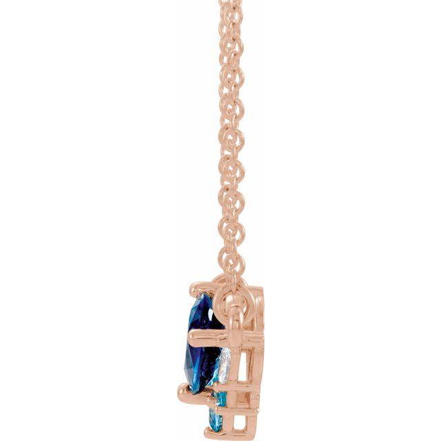 14K Rose Multi-Gemstone & .06 CTW Diamond 18