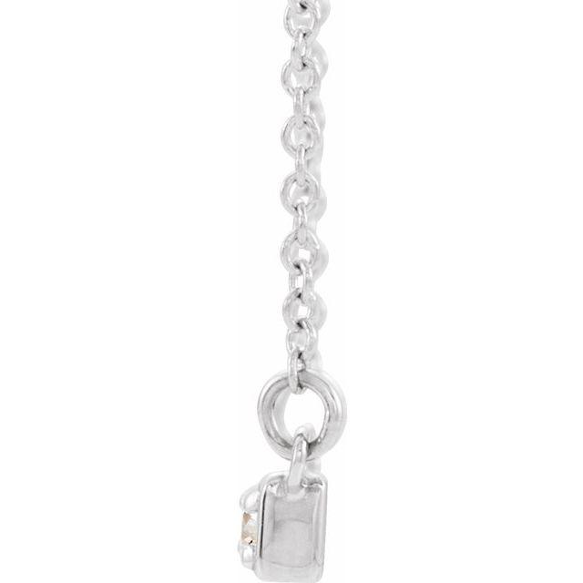 14K White 1/5 CTW Diamond Bar 16-18