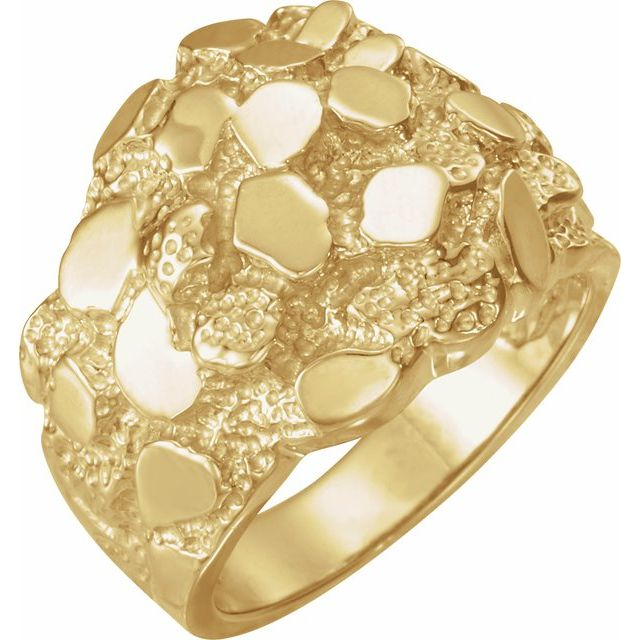 14K Yellow Nugget Ring