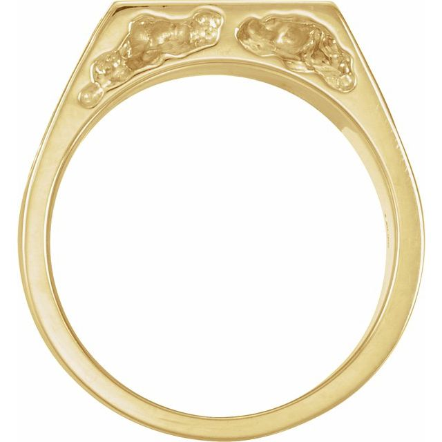 14K Yellow 11 mm Men-s Solid Nugget Ring