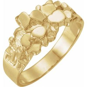 14K Yellow Nugget Ring Mounting