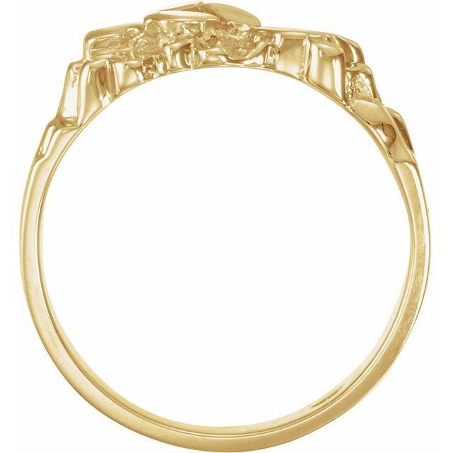 10K White Nugget Ring Mounting
