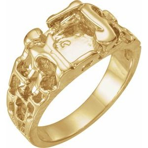 14K Yellow 11 mm Nugget Ring