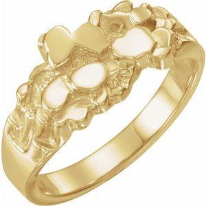 10K Yellow Men-s Nugget Ring