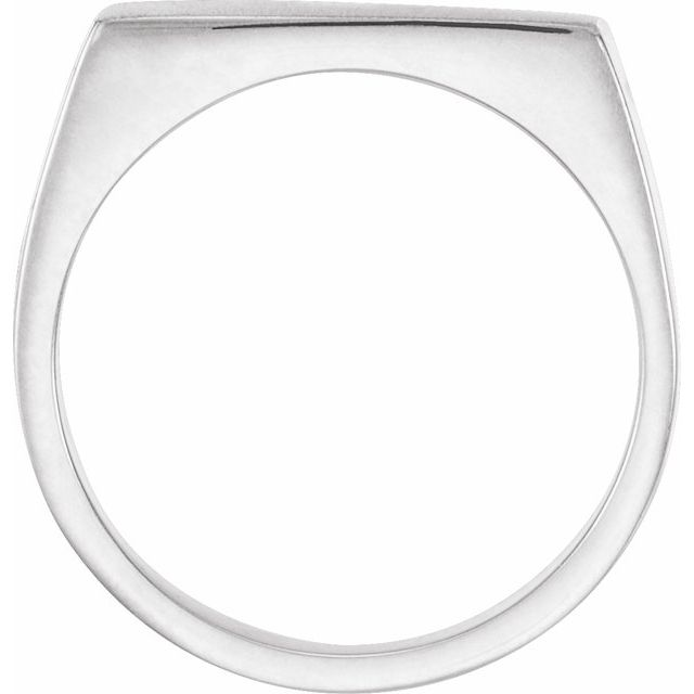 Sterling Silver 15x9 mm Rectangle Signet Ring