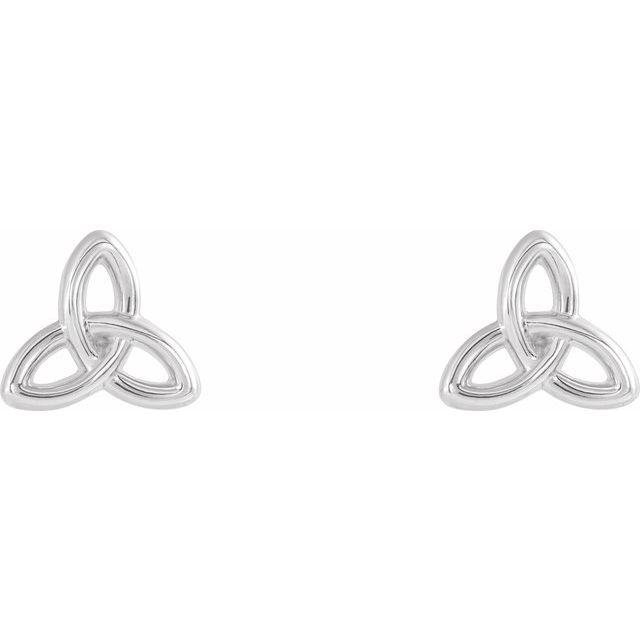 Sterling Silver Celtic-Inspired Trinity Earrings