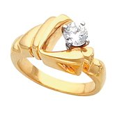 Freeform Solitaire Ring or Shank