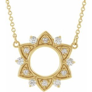 "14K Yellow 1/3 CTW Diamond Accented 16"" Necklace"