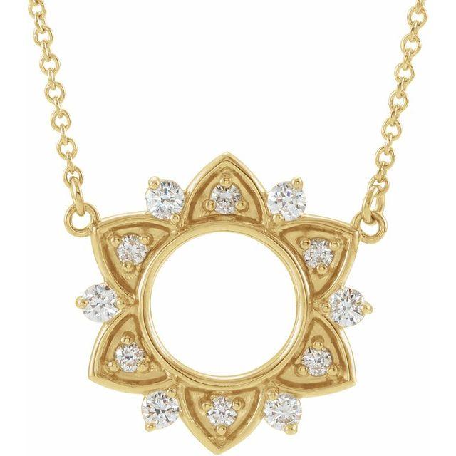 14K Yellow 1/4 CTW Diamond Accented 18