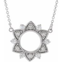 Sterling Silver 1/3 CTW Diamond Accented 16