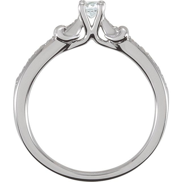 Sterling Silver 3.4 mm Round Cubic Zirconia Ring Size 7